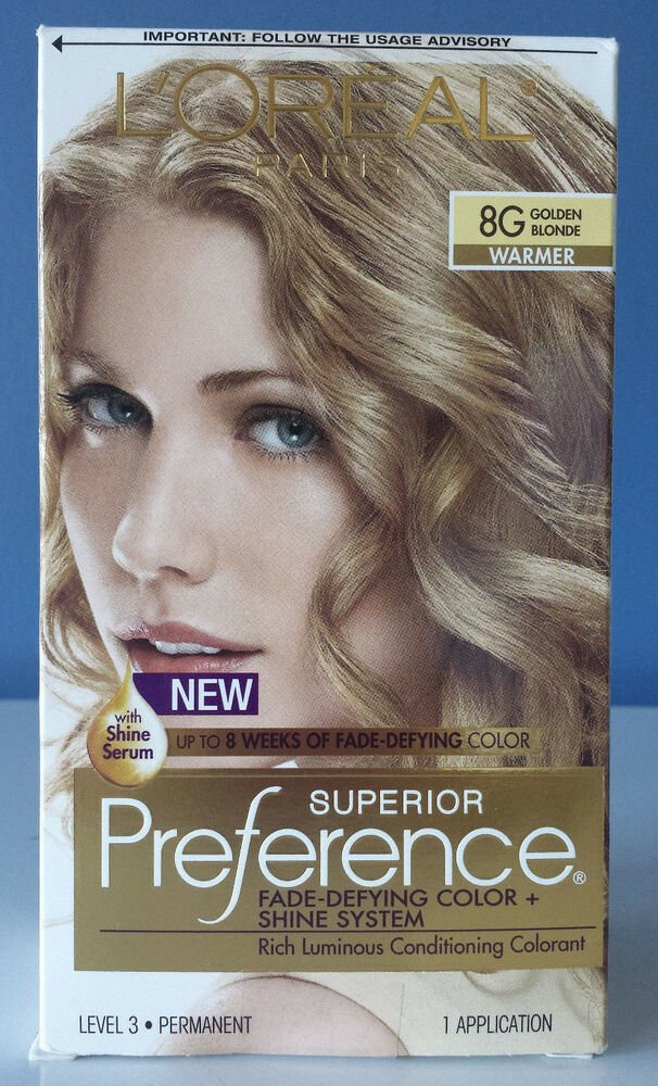 Free L Oreal Paris Superior Preference Hair Color 8G Golden Blonde Free Shipping Ebay Wallpaper