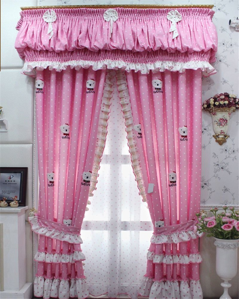 Best Cute Cartoon Pink Princess Room Curtains Girl Child With Pictures