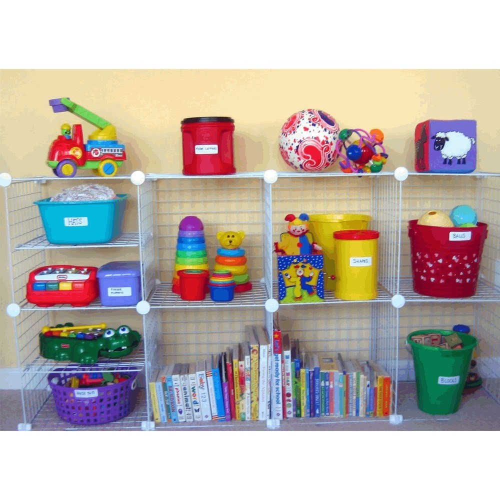 Best Black Kids Bedroom White Wire Cube Storage Unit Shoe With Pictures