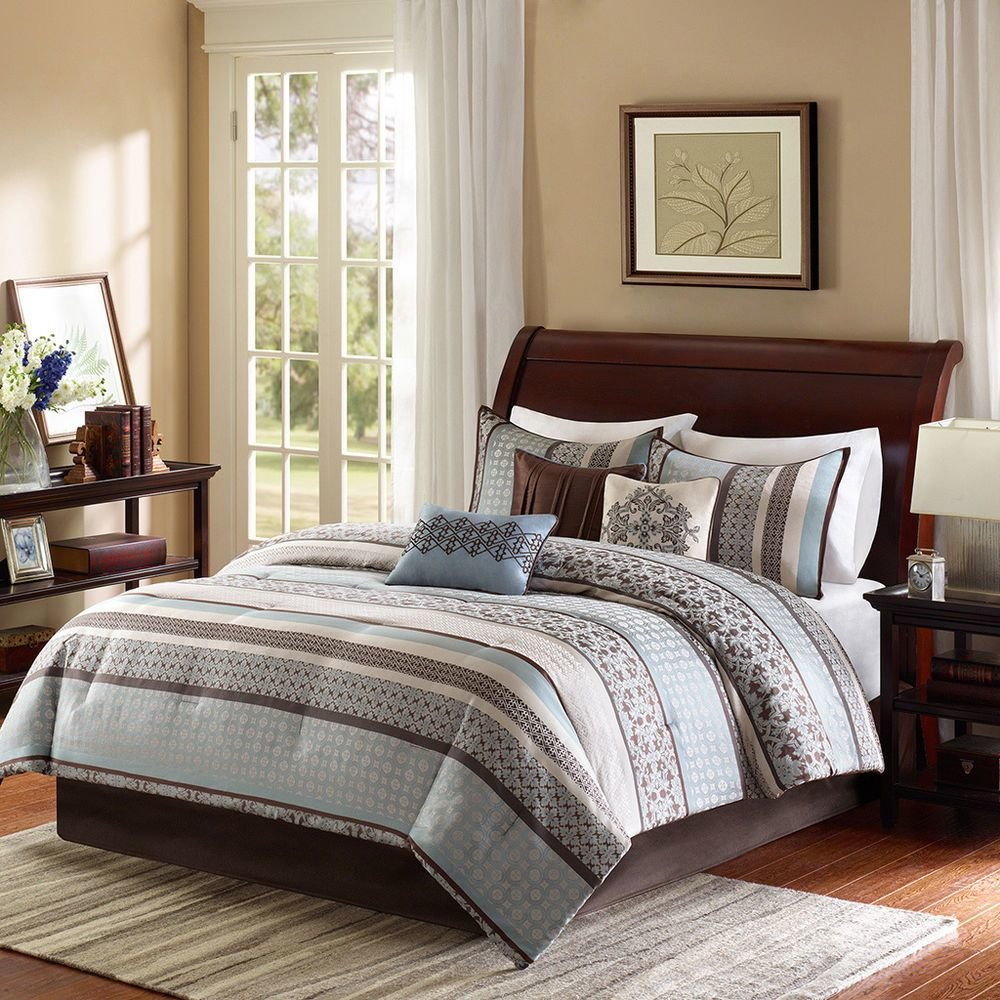 Best Madison Park Harvard 7 Piece Comforter Set Ebay With Pictures