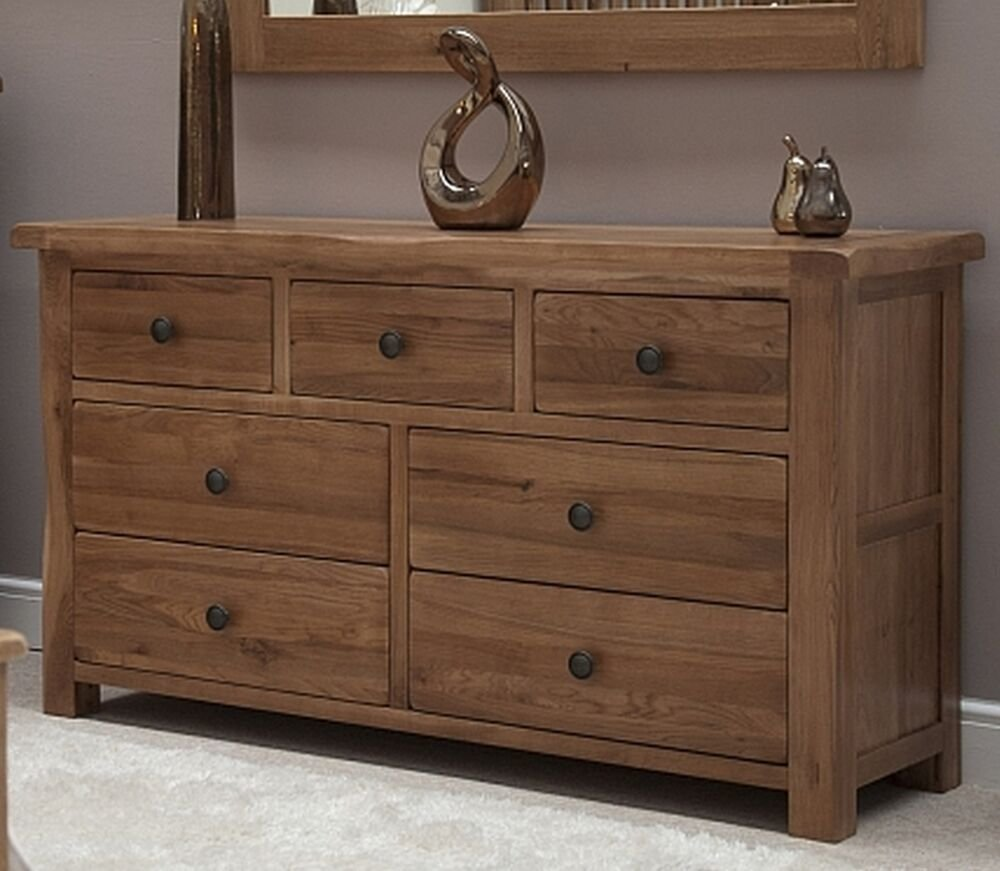 Best Warwick Solid Oak Bedroom Furniture Large Wide Multi Chest Of Drawers Ebay With Pictures
