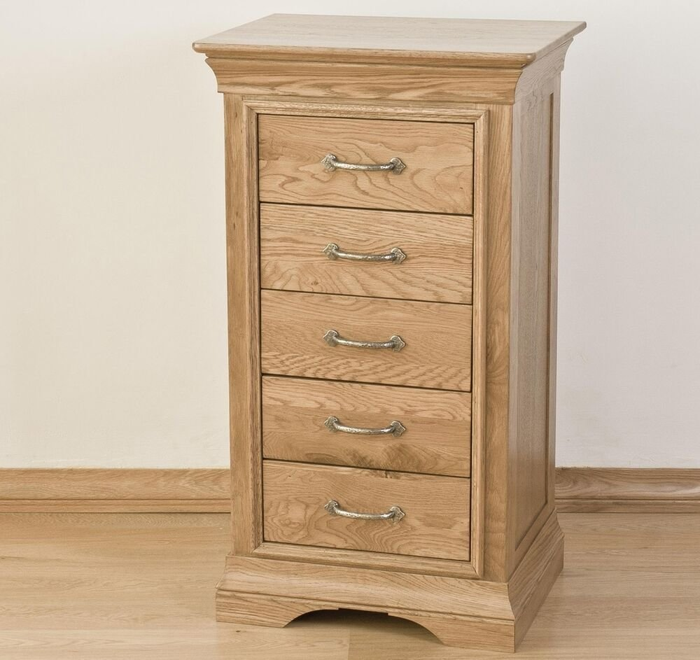 Best French Solid Oak Furniture Bedroom Tallboy Wellington Chest Of Drawers Ebay With Pictures