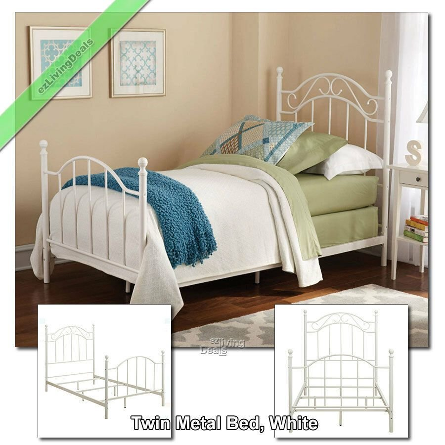 Best Twin Metal Bed Frame For Girls Boys Kids Dorm Bedroom With Pictures