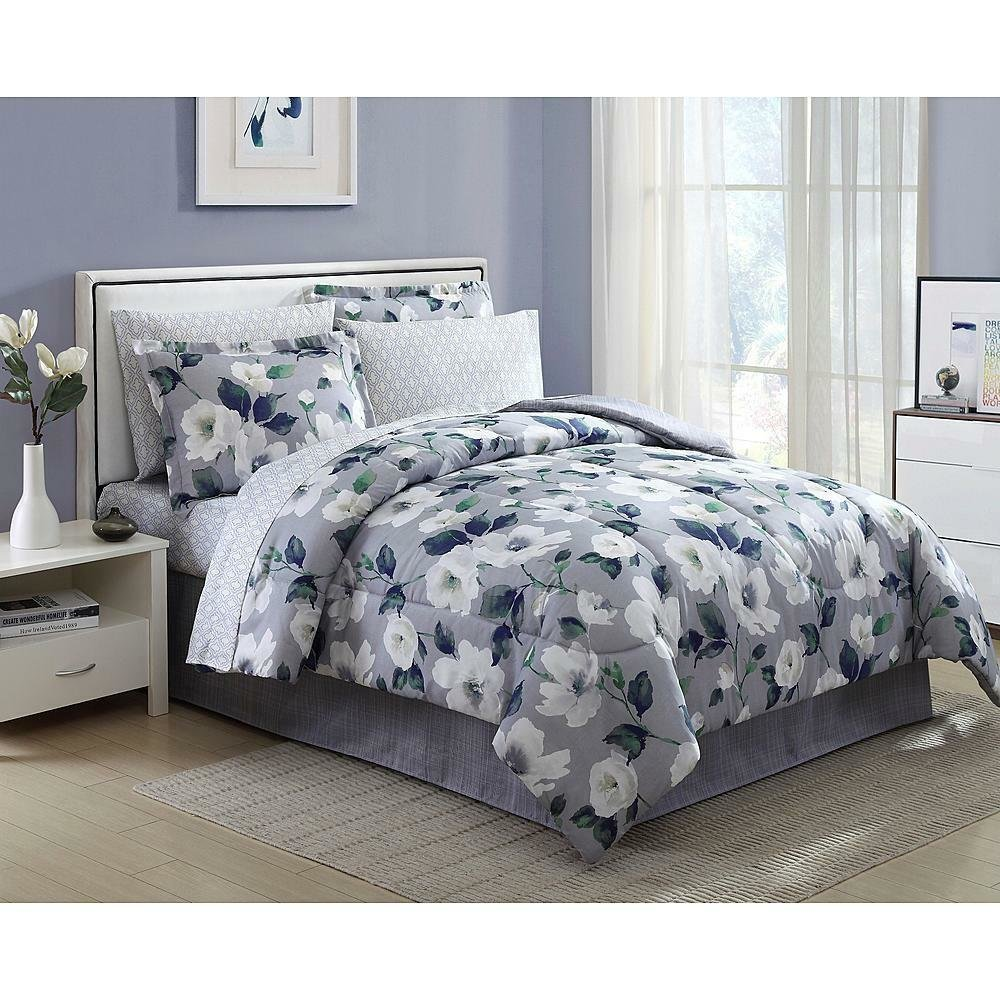 Best 8 Pieces Complete Comforter Set Bed In A Bag Flowers Floral King Queen Full Twin Ebay With Pictures