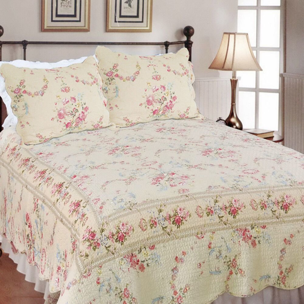 Best New Rose Romance All Sizes Luxury Quilt Set Bedding Home With Pictures