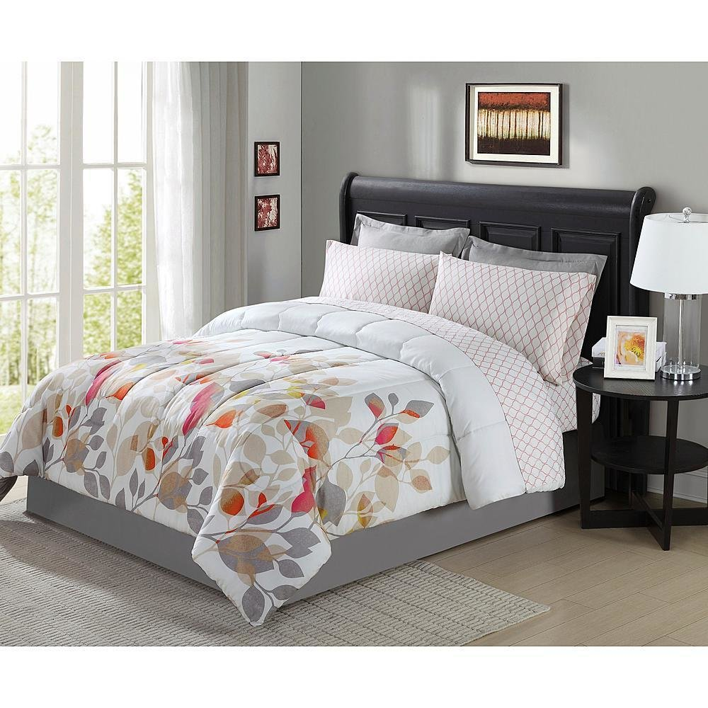 Best 8 Pieces Complete Bedding Set Comforter Floral Flowers With Pictures