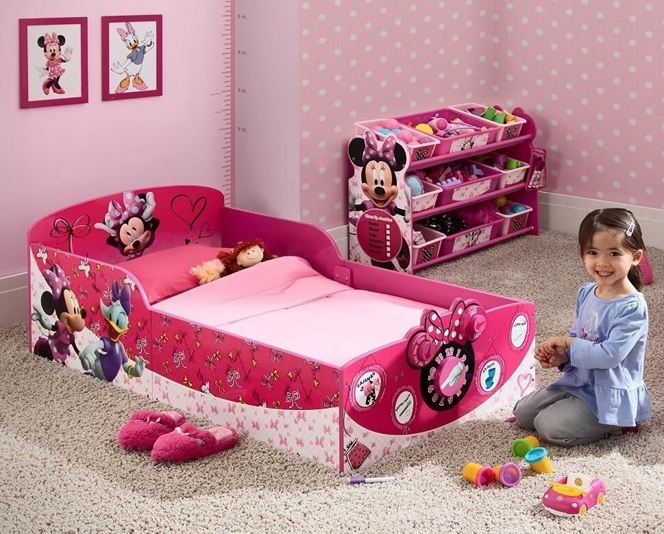 Best Toddler Bed Frame Disney Minnie Mouse Princess Girls Pink With Pictures