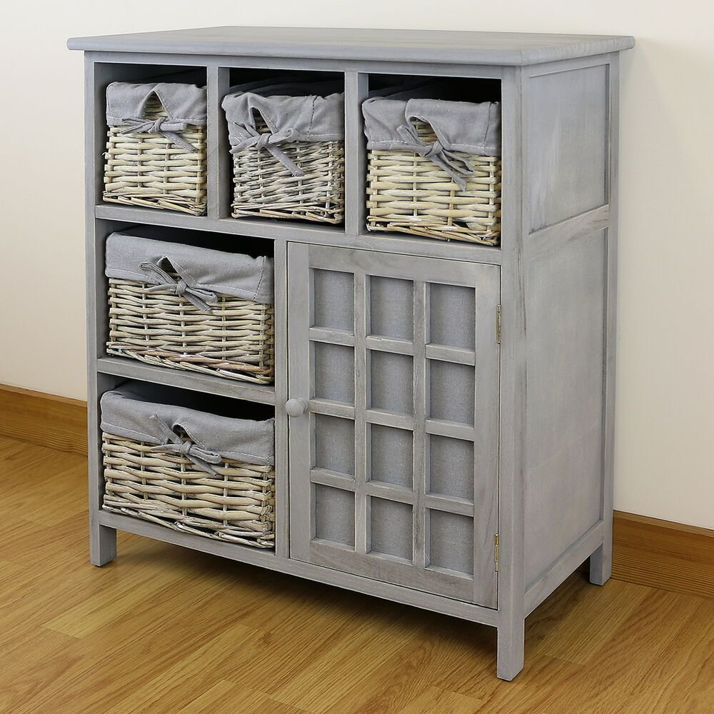Best Grey 5 Drawer Hallway Bedroom Storage Unit Farmhouse With Pictures