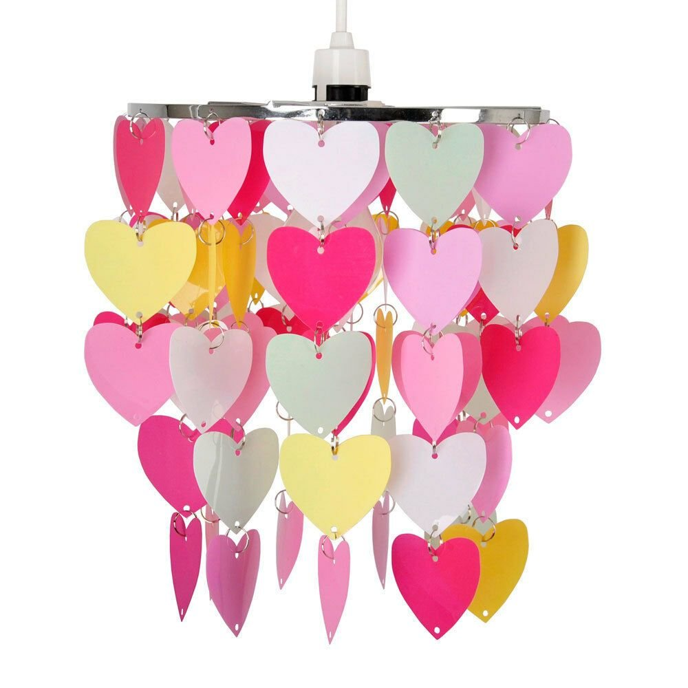 Best Modern Girls Bedroom Pink Red White Hearts Ceiling Light With Pictures