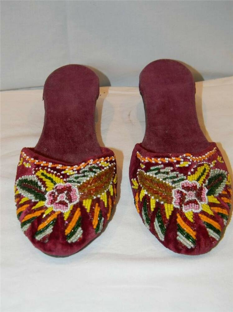 Best Stunning Vtg 40S Beaded Red Velvet Floral Philippines With Pictures