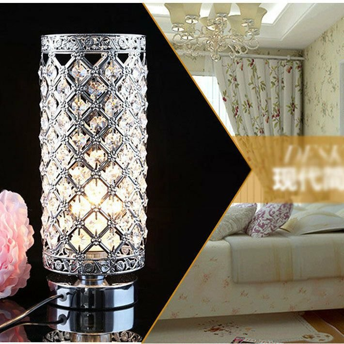 Best Modern Crystal Table Lamp Bedroom Lights Bedside Lamp With Pictures