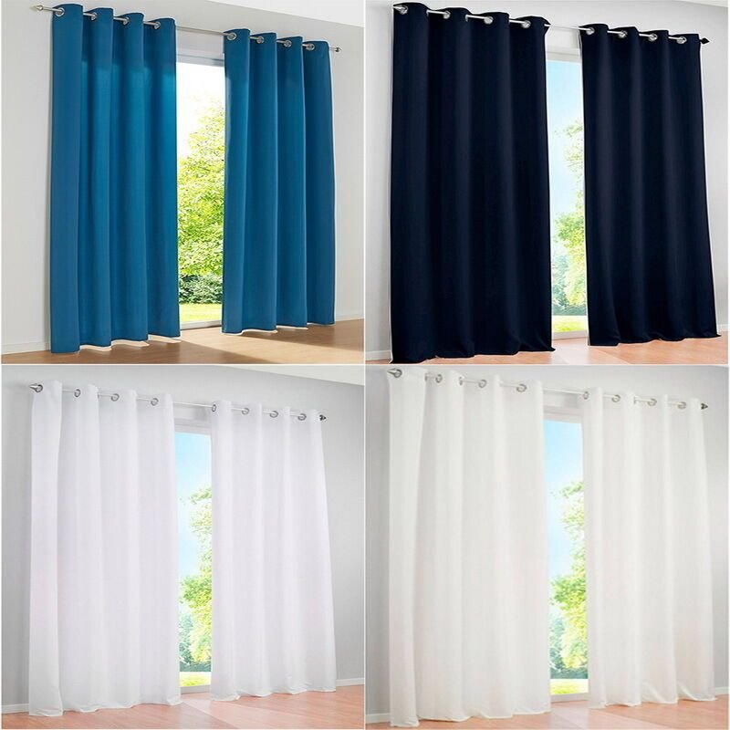 Best 1Pc Grommet Blackout Curtains Eyelet Ring Panel Living Room Bedroom Drapes Ebay With Pictures