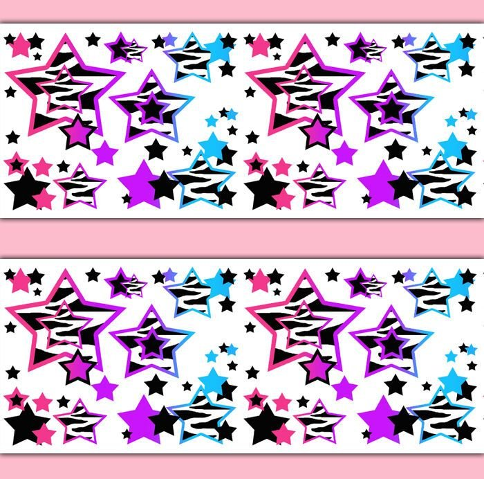 Best Rainbow Zebra Animal Print Star Wallpaper Border Wall With Pictures