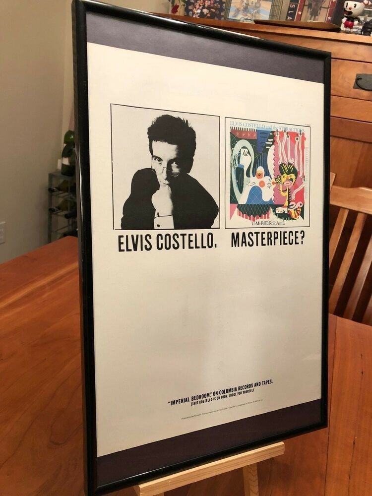 Best Big 11X17 Framed Original Rare Elvis Costello Imperial With Pictures