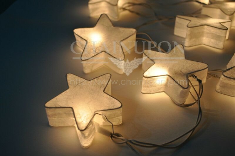 Best White Fancy Star Paper Lantern String Party Fairy Decor With Pictures