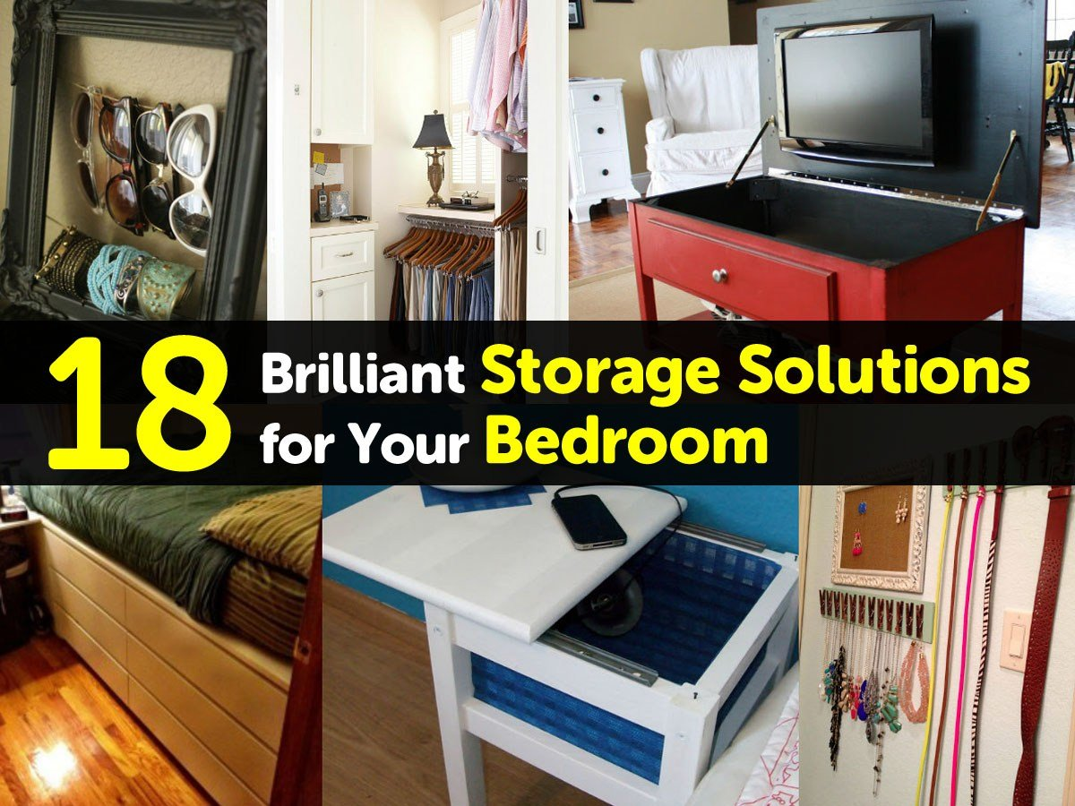 Best 18 Brilliant Storage Solutions For Your Bedroom With Pictures