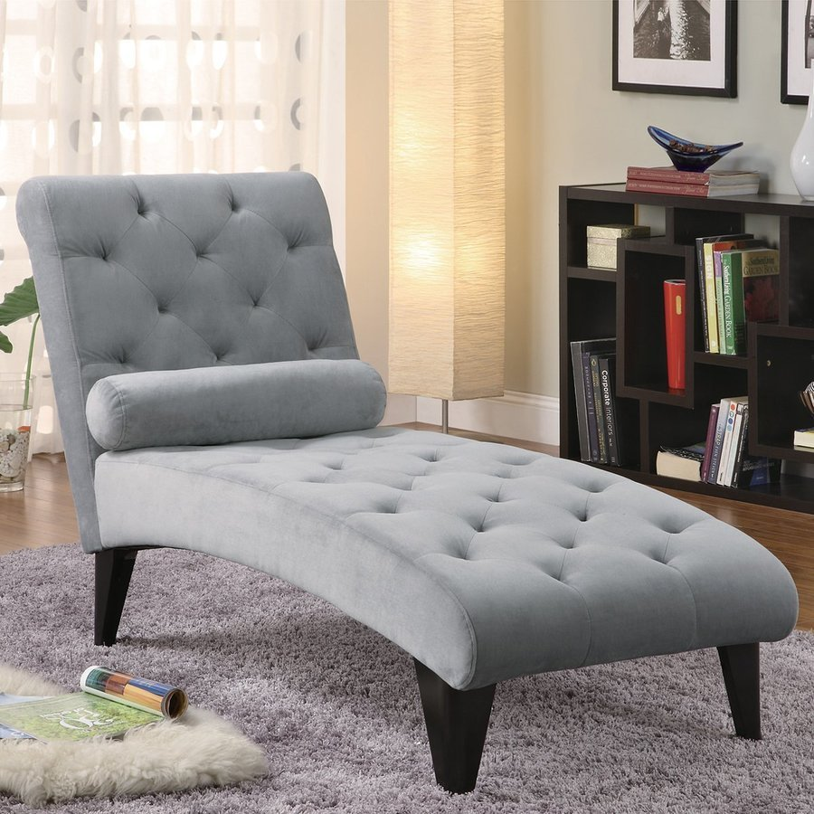 Best Shop Coaster Fine Furniture Grey Chaise At Lowes Com With Pictures
