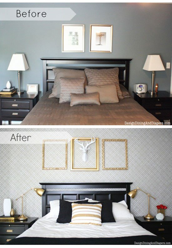Best Decorating A Bedroom On A Budget With Diy Stencils With Pictures