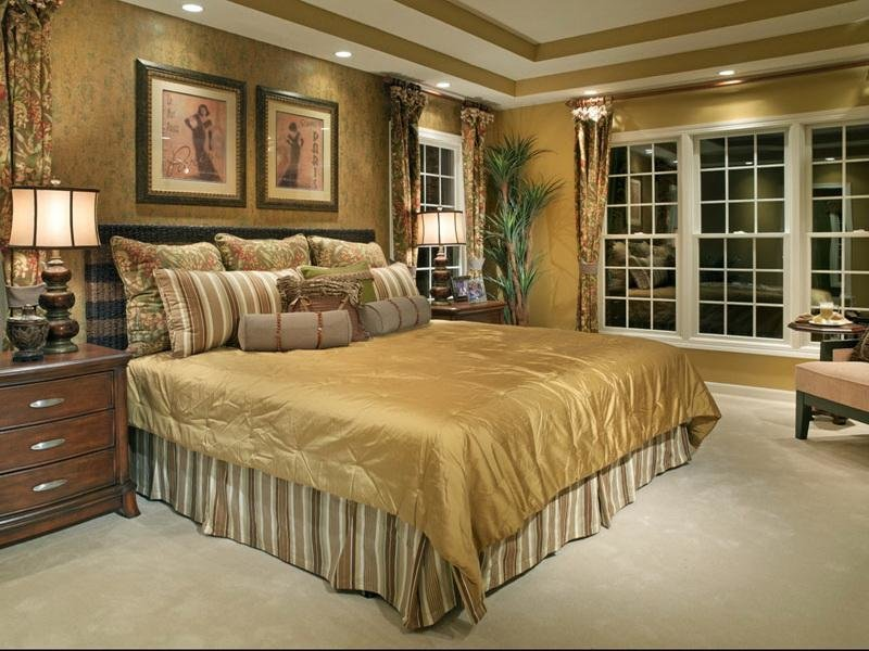 Best Bloombety Small Master Gold Bedroom Decorating Ideas With Pictures