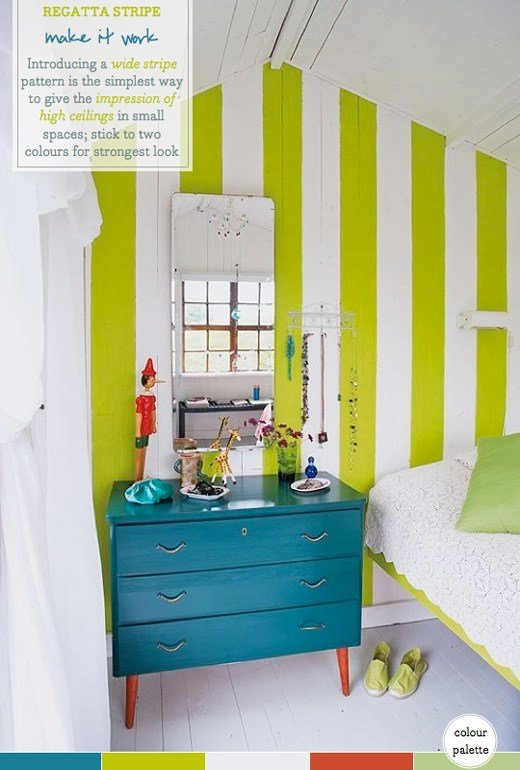 Best Palette Addict Lime Striped Guest Bedroom Bright Bazaar By Will Taylor With Pictures