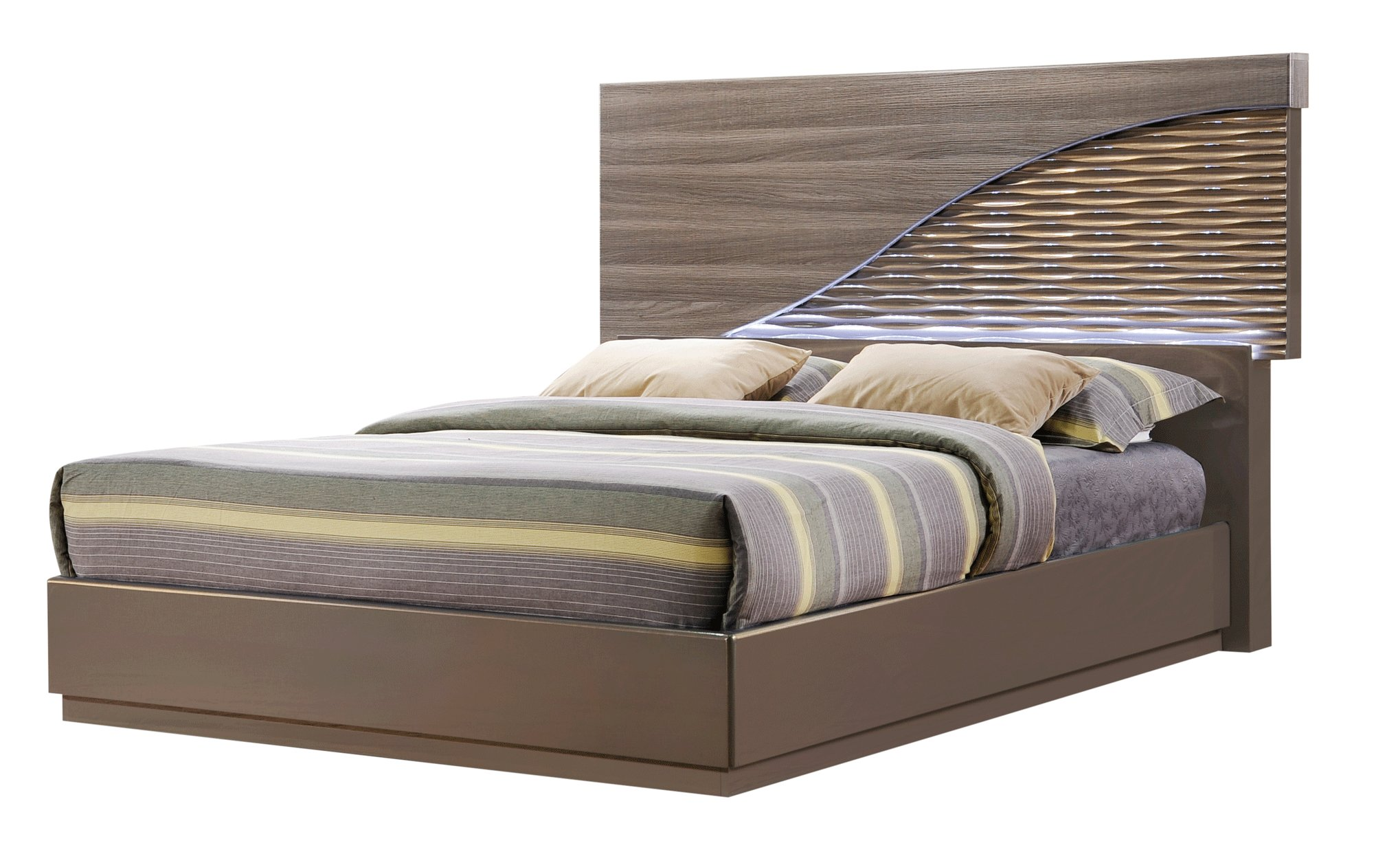 Best North Zebra Wood Gold Line Bedroom Set By Global Furniture With Pictures