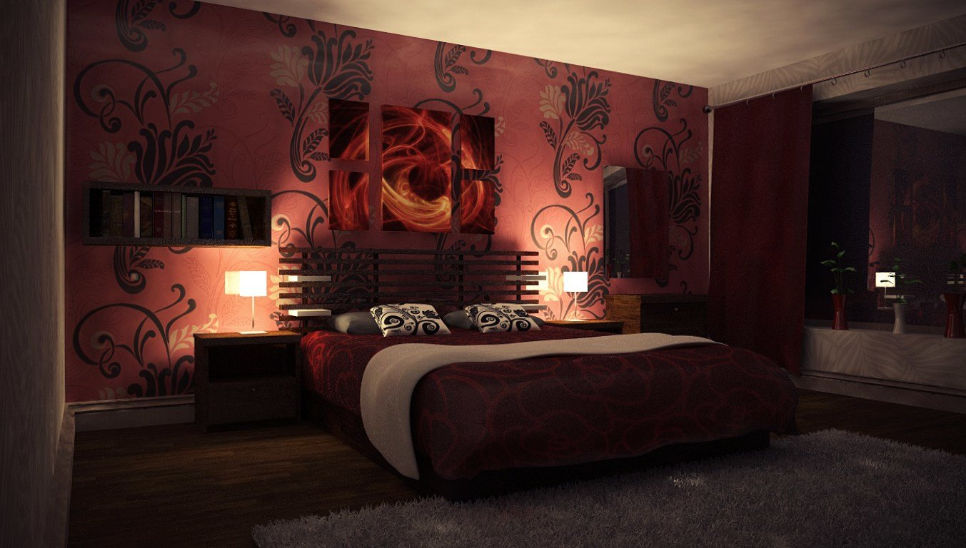 Best Nightly Red Bedroom By Perbear42 With Pictures
