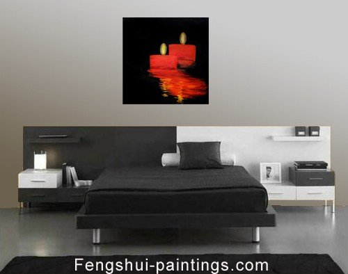 Best Abstract Romantic Candles Feng Shui Bedroom Painting Ebay With Pictures