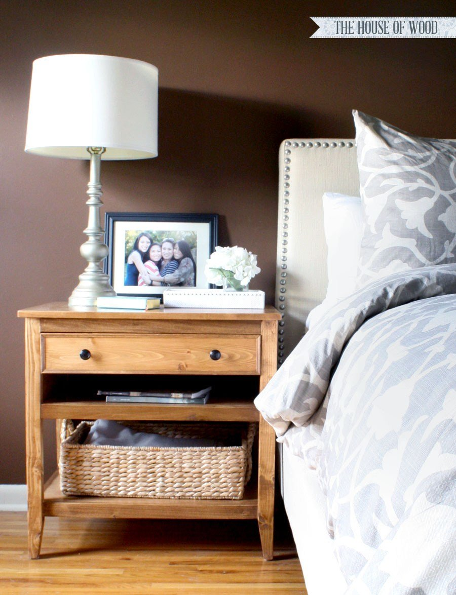 Best How To Build Diy Nightstand Bedside Tables With Pictures