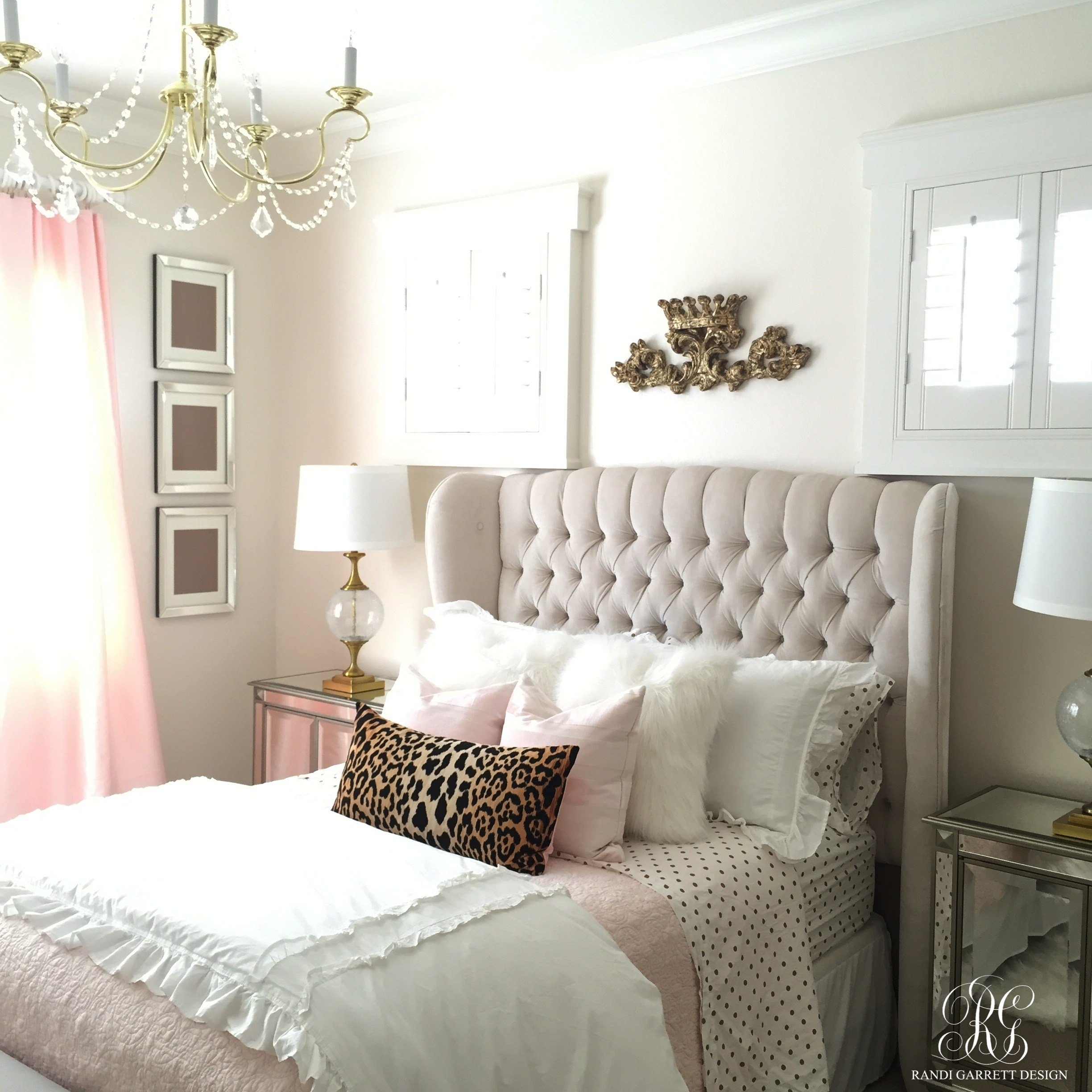 Best Pink And Gold Girl S Bedroom Makeover Randi Garrett Design With Pictures