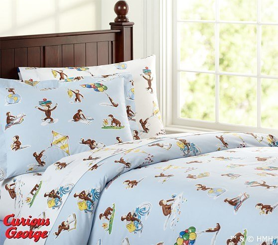 Best Curious George™ Duvet Cover Pottery Barn Kids With Pictures
