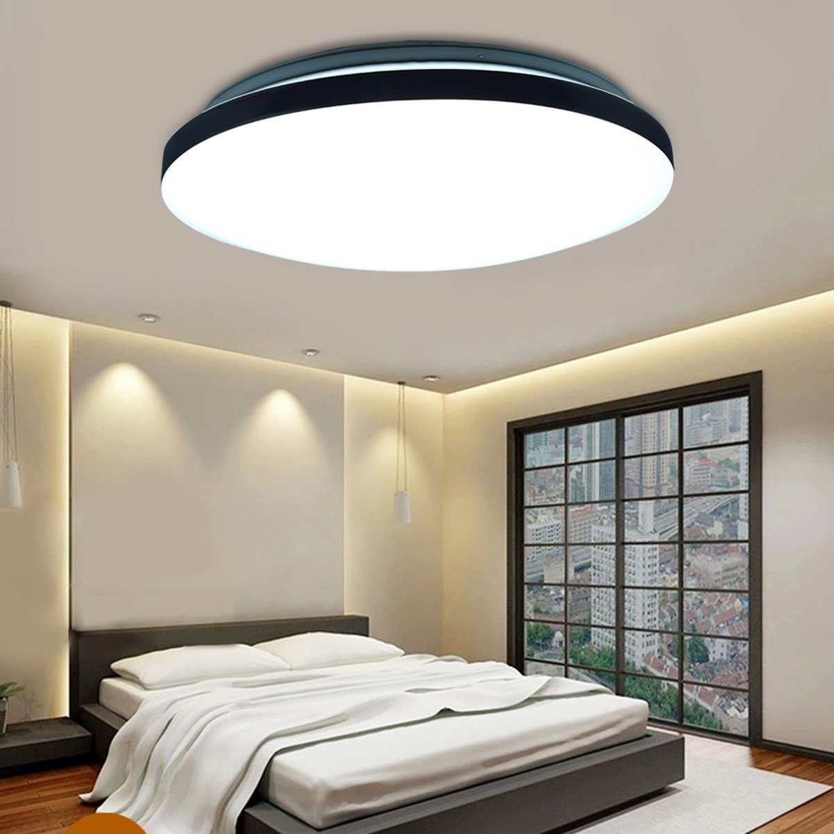 Best 18W Round Led Ceiling Light Fixture Lighting Flush Mount Pendant Lamp Bedroom Us With Pictures