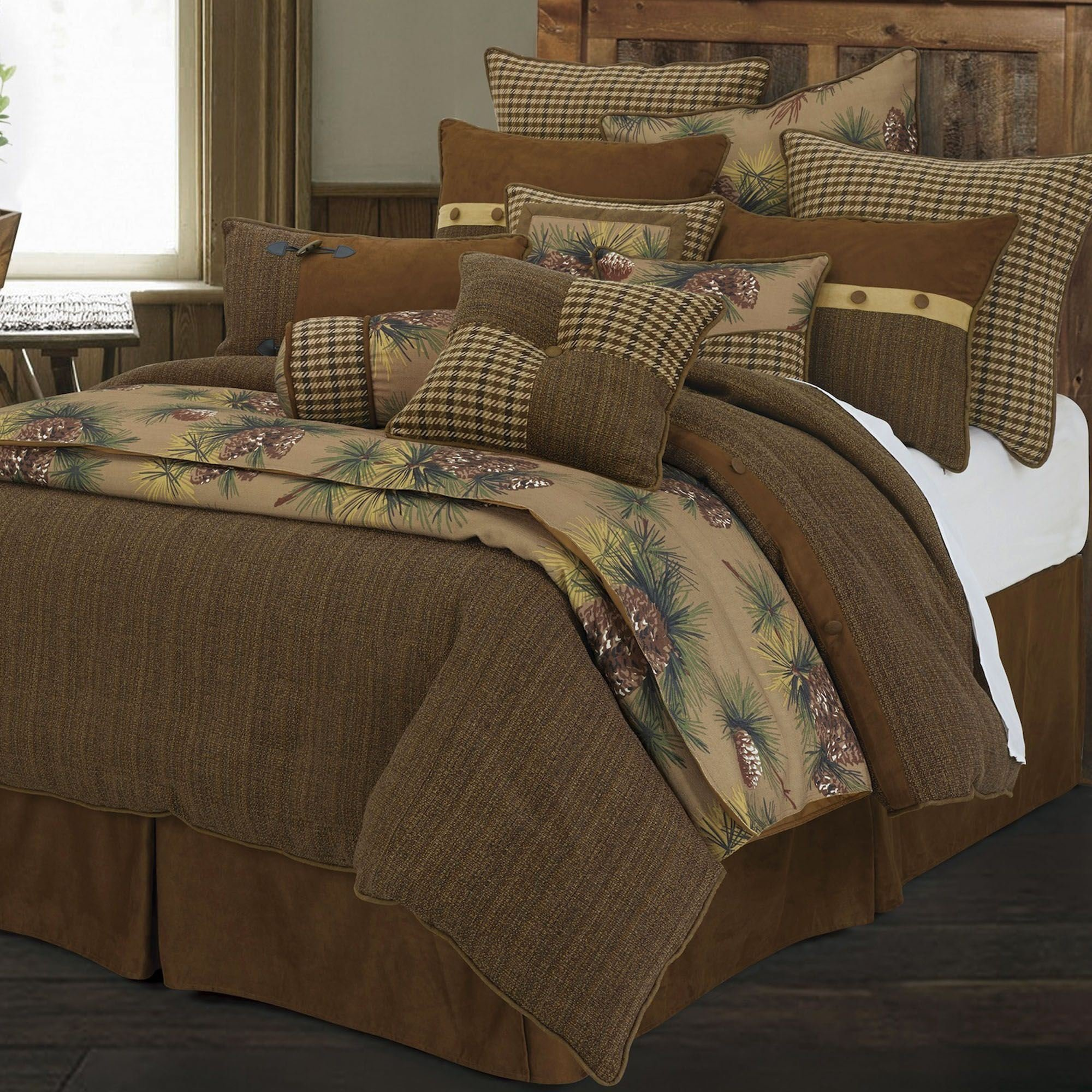 Best Crestwood 4 5 Pc Rustic Comforter Bed Set With Pictures