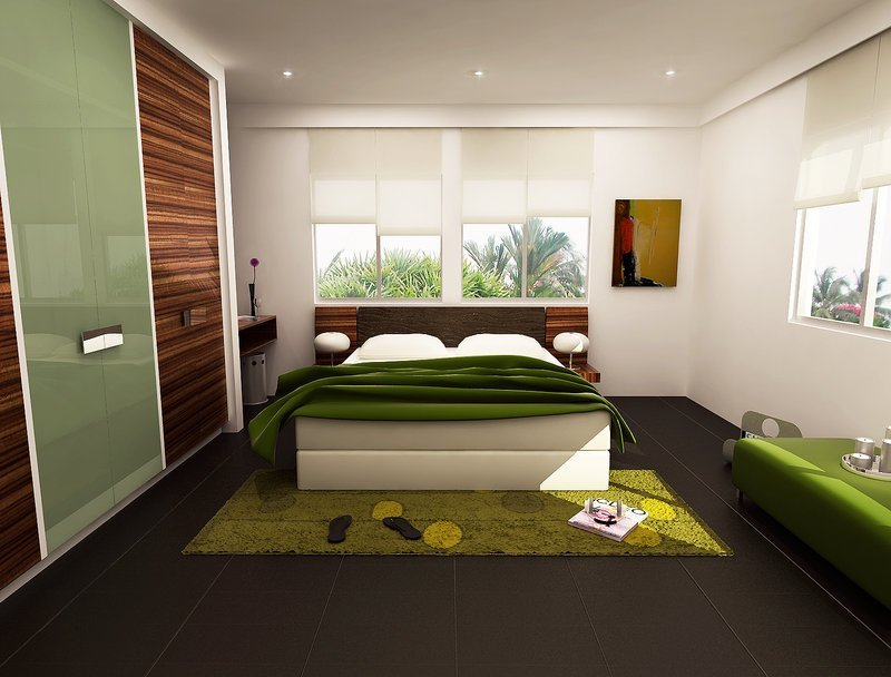 Best 16 Green Color Bedrooms With Pictures