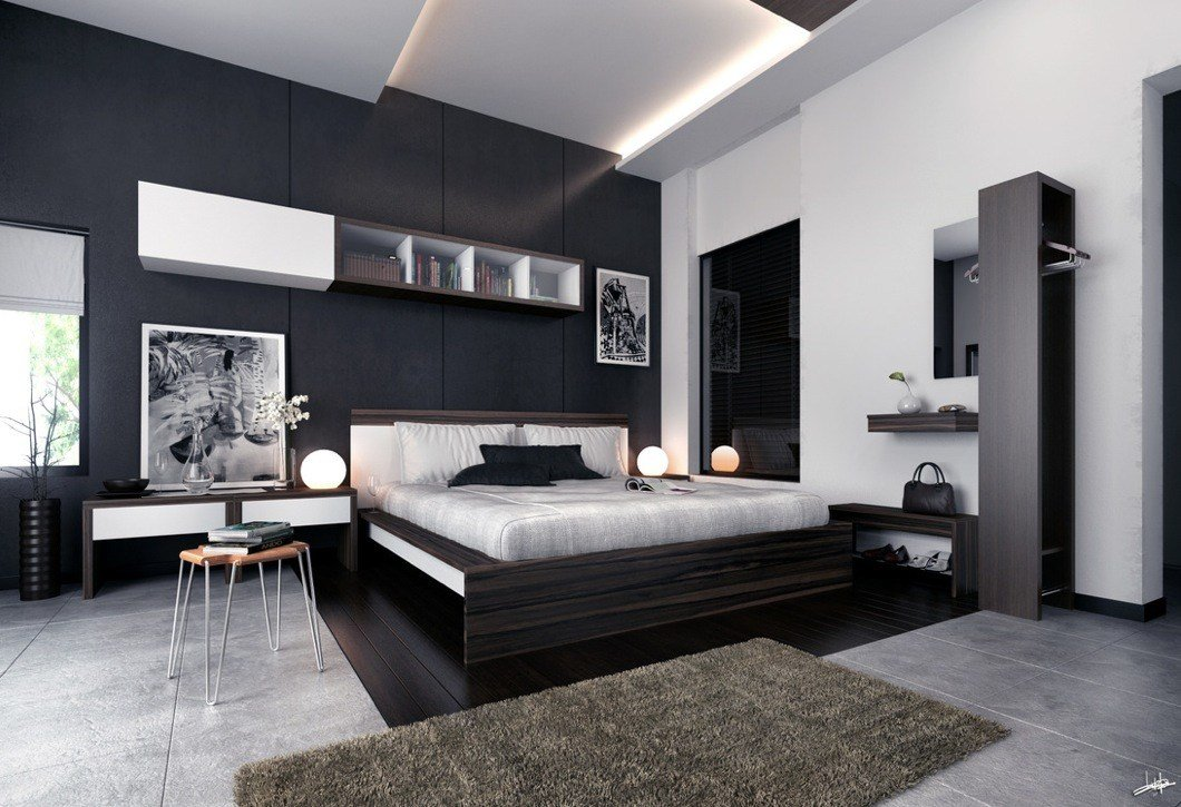 Best White Black Brown Modern Bedroom Furniture Interior With Pictures