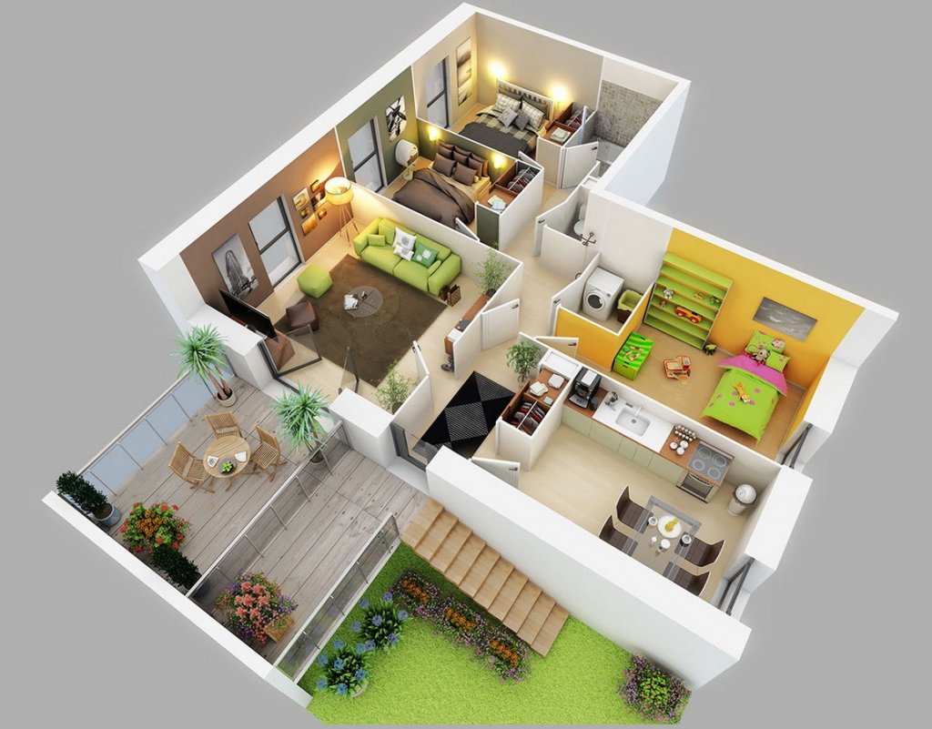Best 25 Three Bedroom House Apartment Floor Plans With Pictures