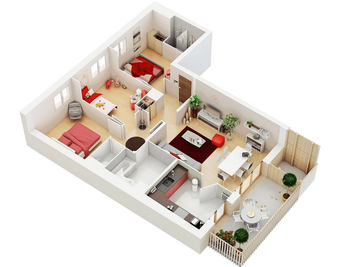 Best 25 Three Bedroom House Apartment Floor Plans With Pictures Original 1024 x 768