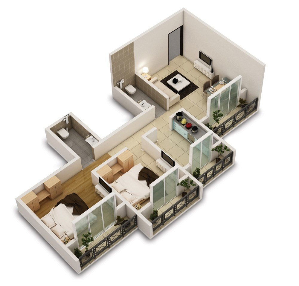 Best 25 Two Bedroom House Apartment Floor Plans With Pictures