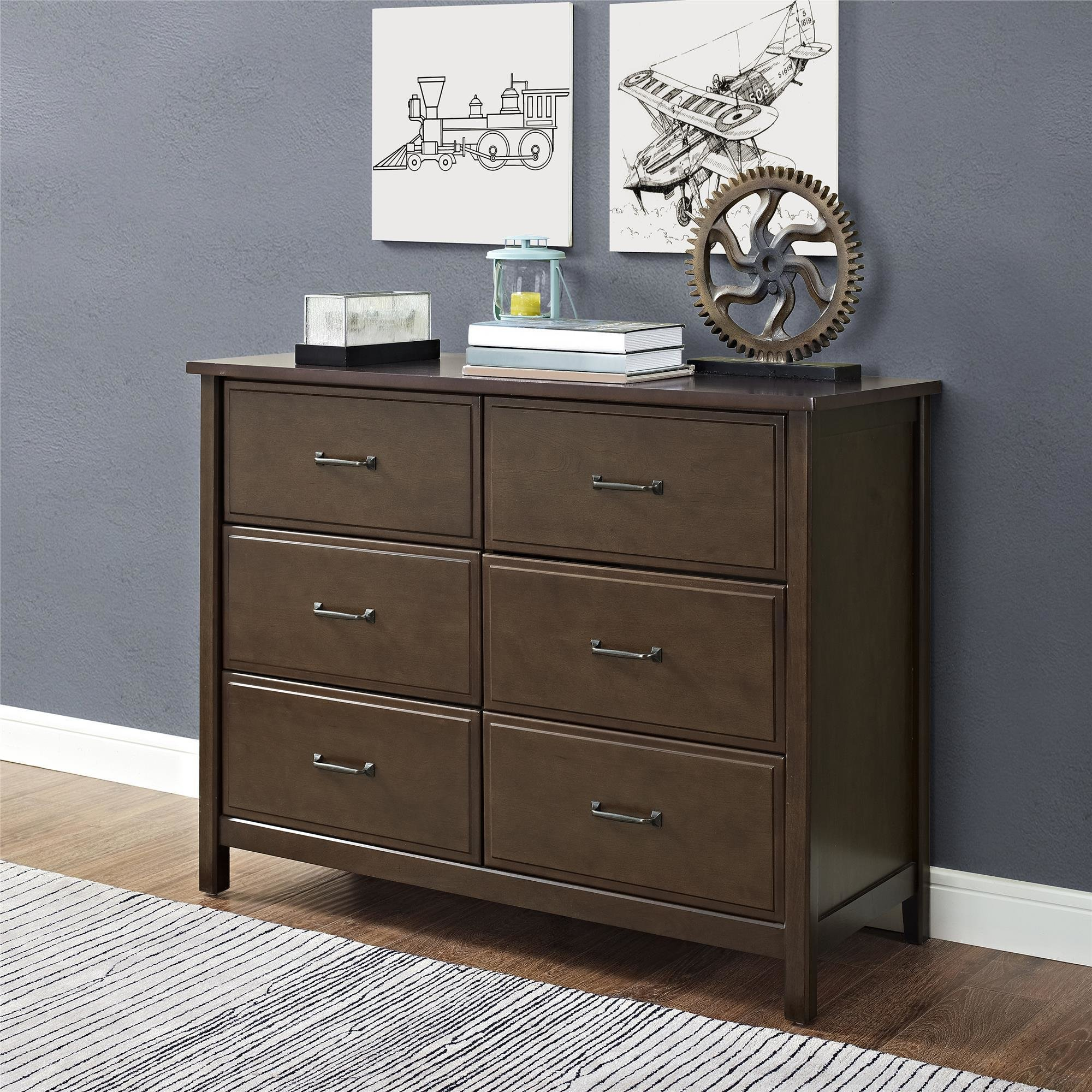 Best Dorel Home Furnishings Maxton Mocha 6 Drawer Dresser With Pictures