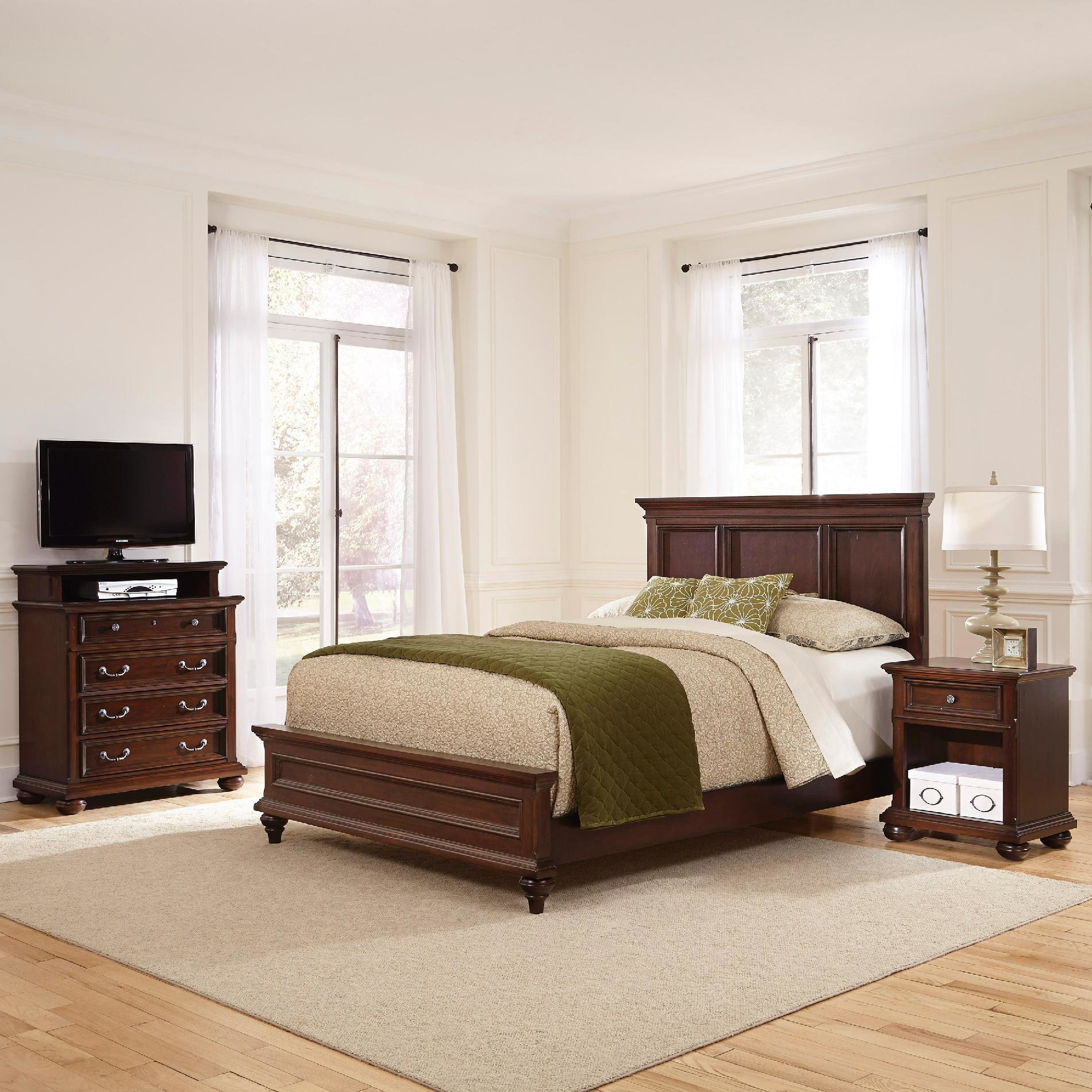 Best Home Styles Colonial Classic Queen Bed Night Stand And With Pictures