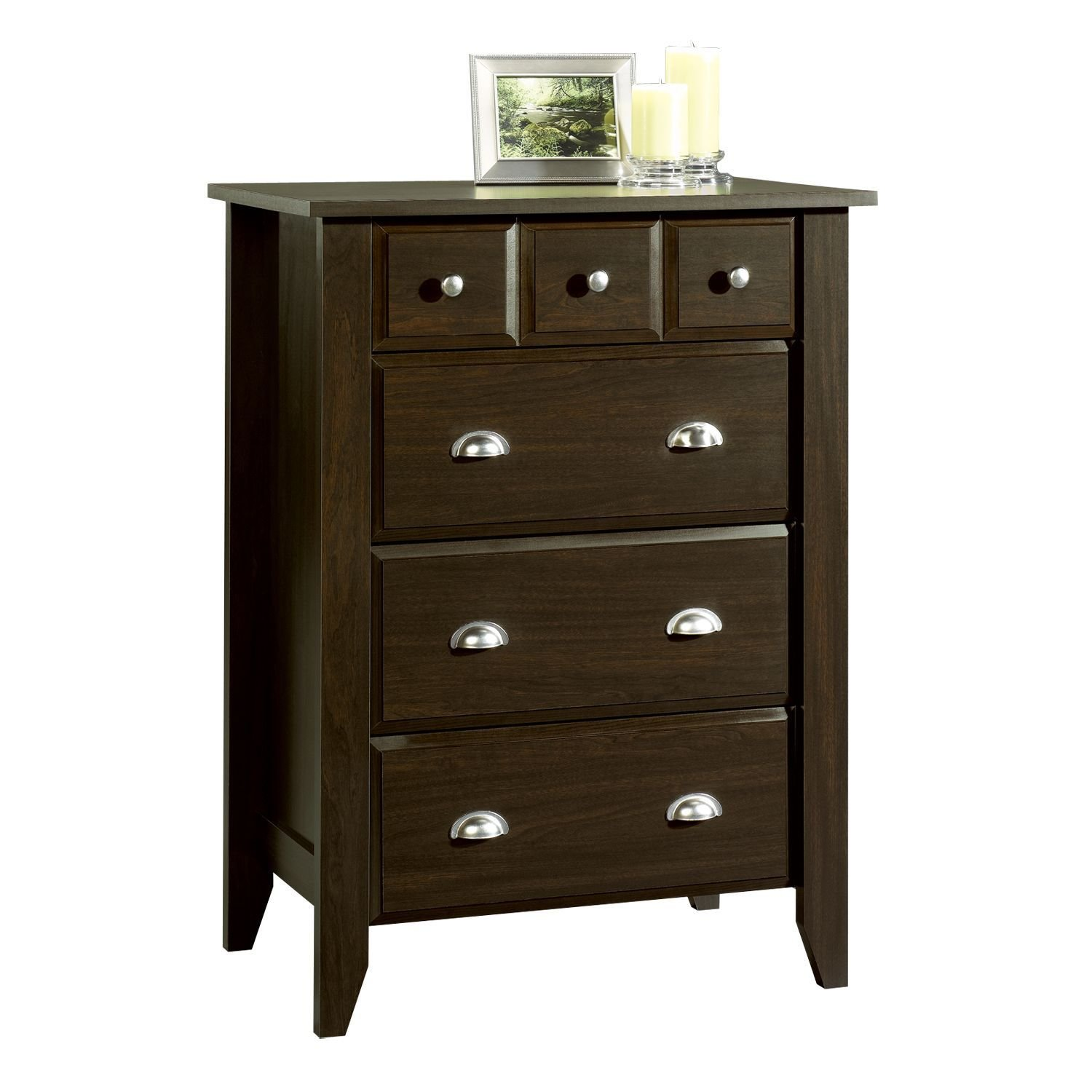 Best Sauder Shoal Creek 4 Drawer Organizer Brown Home With Pictures