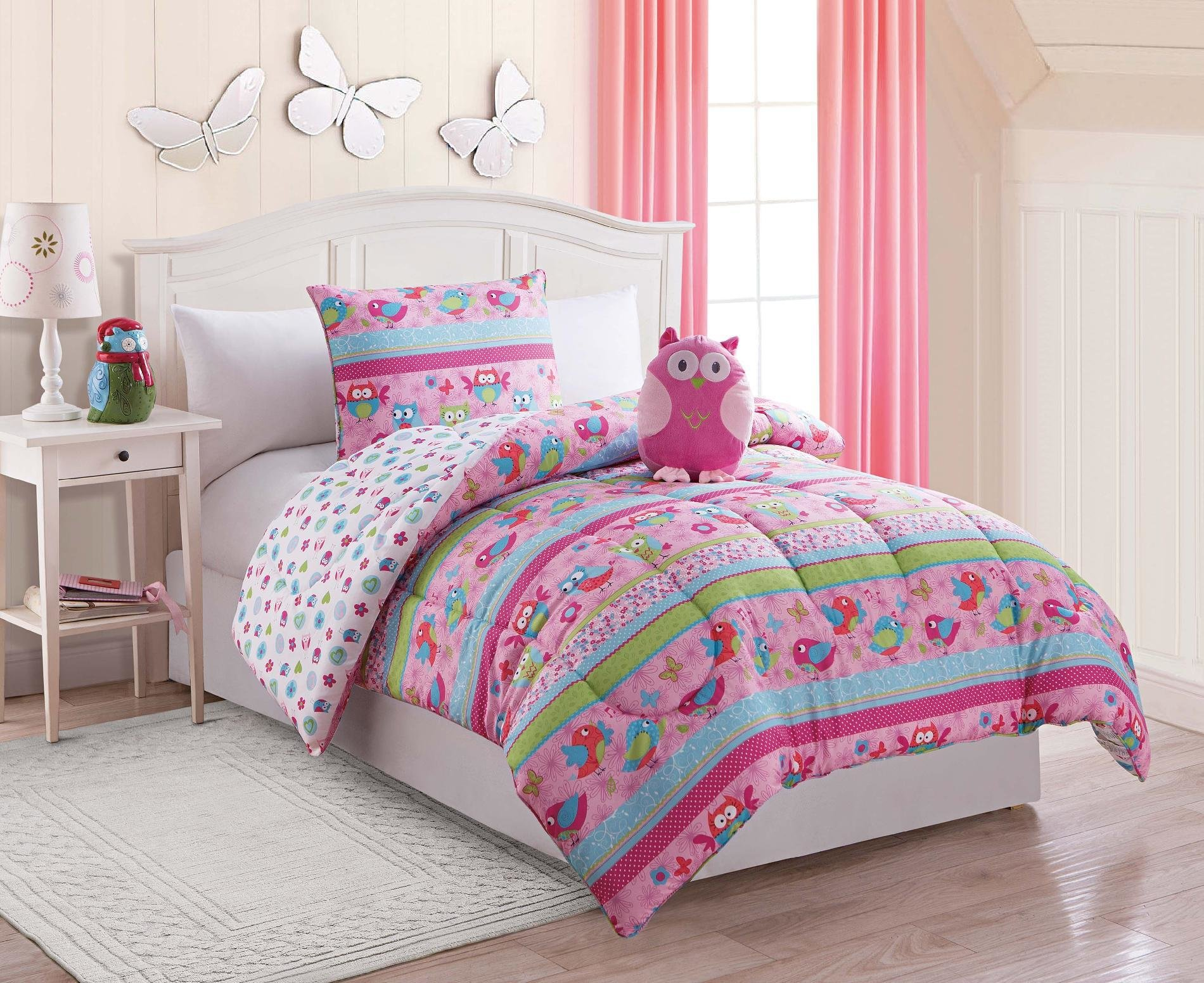 Best Furry Friends 3 Piece Owl Twin Comforter Set With Pictures