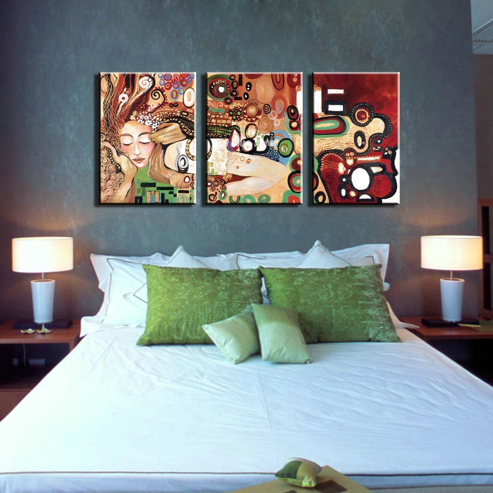 Best Famous Artist 3 Piece Muti Panel Bedroom Abstract Canvas With Pictures