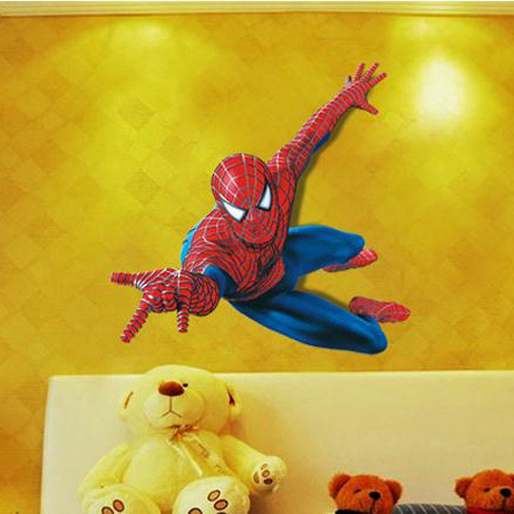 Best Aliexpress Com Buy 3D Spiderman Wall Stickers For Kids With Pictures