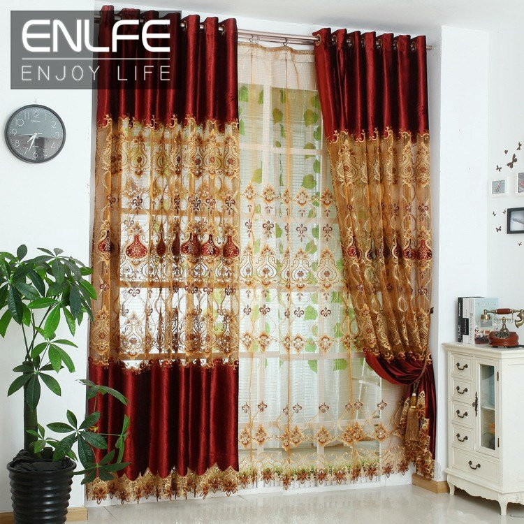 Best Enlfe 150 250Cm Upscale Embroidered Curtains Living Room Curtains Finished Bedroom Luxury With Pictures