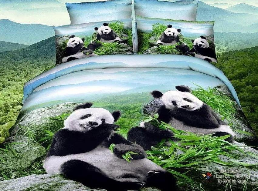 Best 3D Panda Bedding Set Queen Size 100 Cotton Bed In A Bag With Pictures