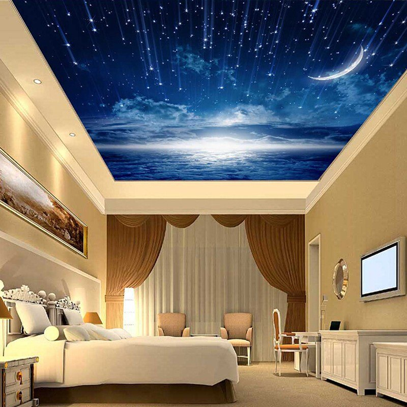 Best 3D Star Nebula Night Sky Large Suspended Ceiling Painted With Pictures