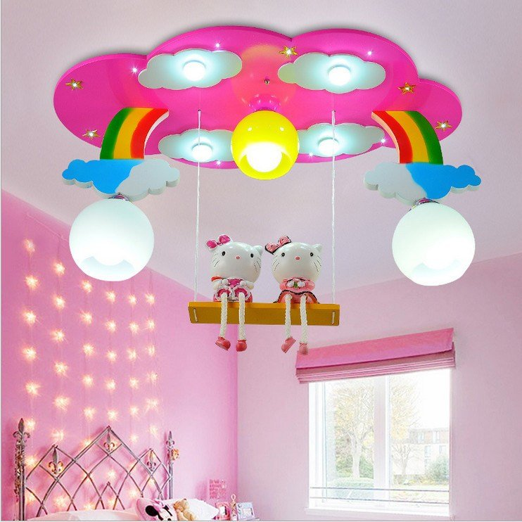 Best Modern Cartoon Ceiling Light Kids Bedroom Bulb Light With Pictures