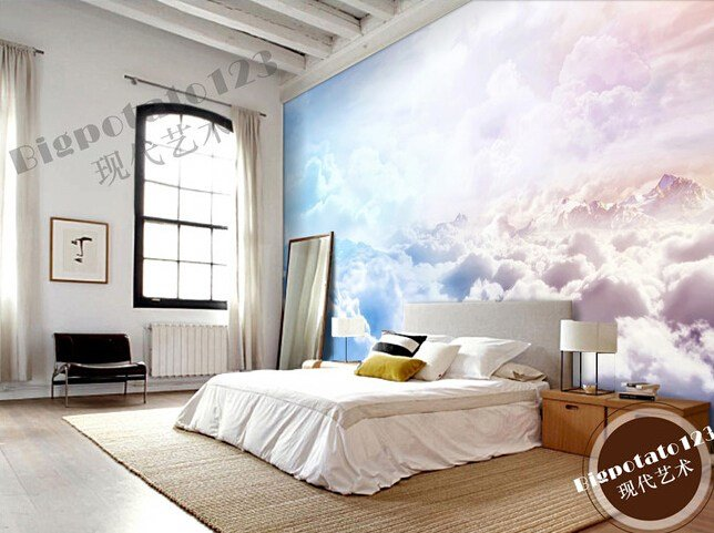Best Custom Natural Wallpaper Sun Sky Clouds Landscape Murals With Pictures