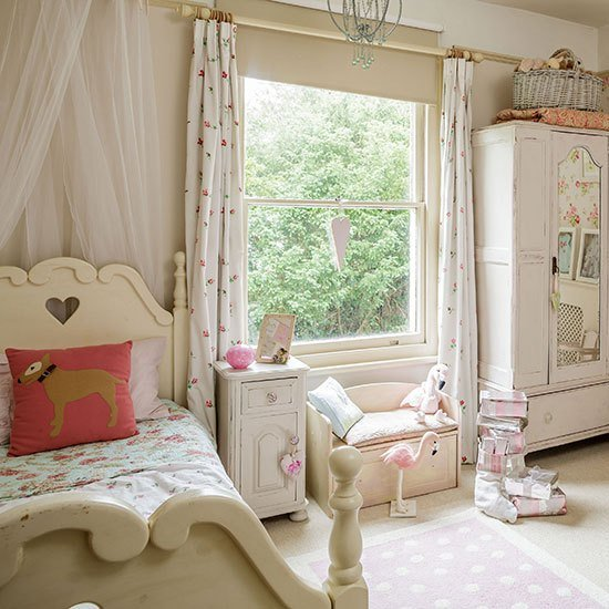 Best Neutral Shabby Chic Girl S Bedroom Decorating Ideal Home With Pictures