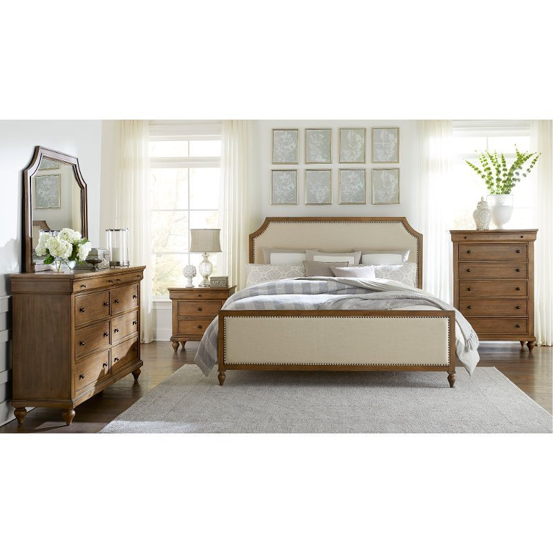 Best Classic Toffee Brown 4 Piece Queen Bedroom Set Brussels With Pictures
